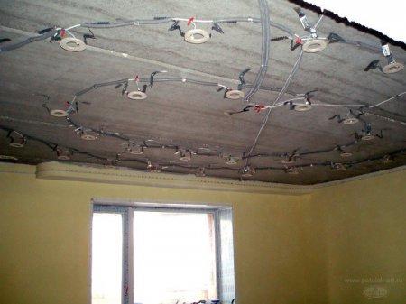 Как монтировать электропроводку для светильников?